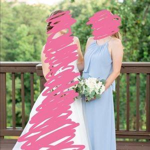 Dusty Blue Bridesmaids Dress